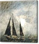 A Light Through The Storm - Sailing Canvas Print