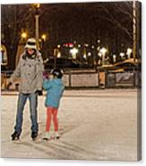 A Lil Help From Dad  Canvas Print