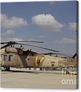 A Line Of Uh-60l Yanshuf Helicopters Canvas Print