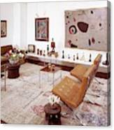 A Living Room Full Of Art Canvas Print
