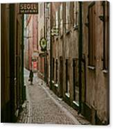 A Lonely Walk Home Canvas Print
