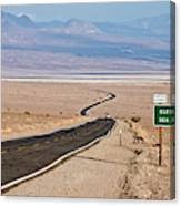 A Long Road Through Death Valley Canvas Print