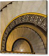 A Look Down The Stairs Canvas Print