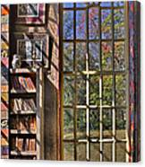 A Look From The Library Canvas Print