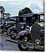 A Lot Of Classic Cars Canvas Print