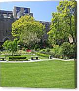 A Lovely View Of A Little Garden At The United States Military A Canvas Print