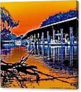 A Magical Delta Sunset Canvas Print