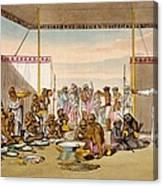 A Mahratta Surdar Entertaining Canvas Print