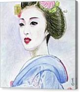 A Maiko  Girl Canvas Print