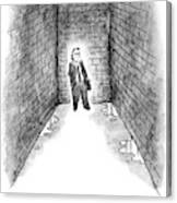 A Man Cornered In An Alleyway Speaks On His Cell Canvas Print