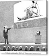 A Man Giving A Ted Presentation Points To An Canvas Print