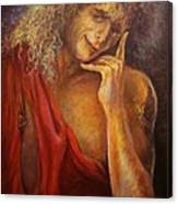 A Man In Toga Canvas Print