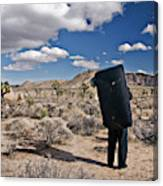 A Man Looks Into The Distance Canvas Print