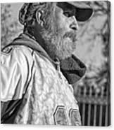 A Man With A Purpose Monochrome Canvas Print