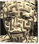 A Maze Ing Man 3 Sepia Canvas Print