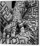 A Maze Ing Man 4 Black And White Canvas Print