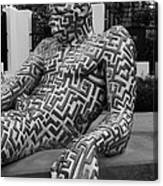 A Maze Ing Man 5 Black And White Canvas Print