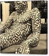 A Maze Ing Man 5 Sepia Canvas Print