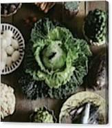 A Mixed Variety Of Food And Ceramic Imitations Canvas Print