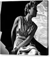 A Model Wearing A Piguet Dress Canvas Print