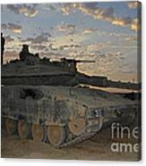 A Morning Prayer On An Israel Defense Canvas Print