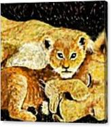 A Mother's Love - In The Den By Lcs Canvas Print