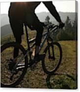 A Mountain Biker Makes His Final Canvas Print