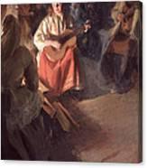 A Musical Family Canvas Print