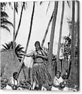 A Native Hawaiian Dancer Canvas Print