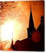 New Orleans St. Louis Cathedral A New Day A New Year In Louiisana Canvas Print