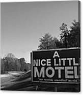 A Nice Little Motel Sign Canvas Print