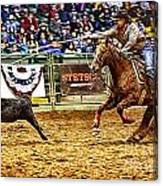 A Night At The Rodeo V10 Canvas Print