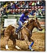 A Night At The Rodeo V30 Canvas Print