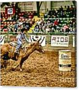 A Night At The Rodeo V35 Canvas Print