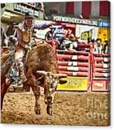 A Night At The Rodeo V5 Canvas Print