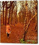 A November Stroll Through Formby Woods Canvas Print