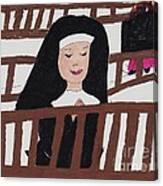 A Nun In Prayer Canvas Print
