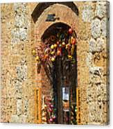 A Painting A Tuscan Shop Doorway Canvas Print