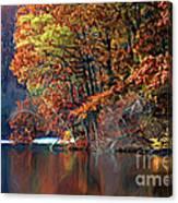 A Painting Barney's Autumn Pond Canvas Print