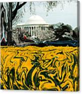 A Painting Jefferson Memorial Dali-style Canvas Print