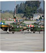 A Pair Of Hellenic Air Force T-2 Canvas Print