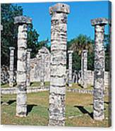 A Panoramic View Of Columns Surround Canvas Print
