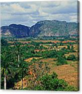 A Panoramic View Of The Valle De Canvas Print