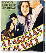 A Parisian Romance, Us Poster Art Canvas Print