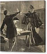 A Parisien Drama, Illustration From Le Canvas Print