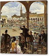 A Pass In The Bullring Canvas Print