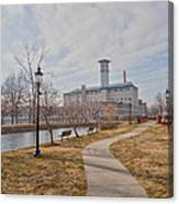 A Path To The Factory Canvas Print