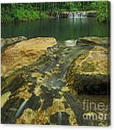 A Peaceful Early Morning At Little Niagra Waterfall A Canvas Print