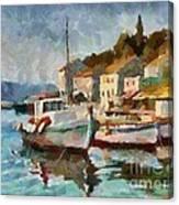A Peaceful Harbour  Canvas Print