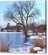 A Peaceful Winter Day Canvas Print
